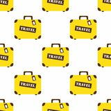 Pattern with travel bags Royalty Free Stock Image