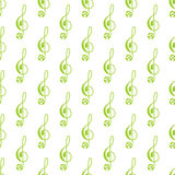 Pattern with treble clef Stock Images