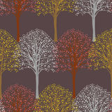 Pattern with trees royalty free illustration