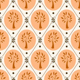 Pattern with trees Stock Image