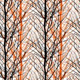 Pattern with trees silhouettes Stock Photos