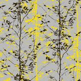 Pattern with trees silhouettes Royalty Free Stock Photography