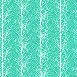 Pattern with trees silhouettes Royalty Free Stock Photo