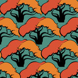 Pattern of trees Royalty Free Stock Images