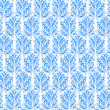 Pattern with trees Royalty Free Stock Image