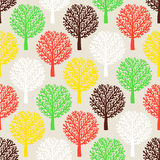 Pattern with trees Royalty Free Stock Photography