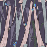 Pattern with trees. Vector pattern with trees and texture in pastels Stock Photography