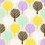 Pattern with trees Royalty Free Stock Photo