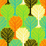 Pattern with trees Stock Photo