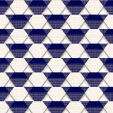 Pattern-triangle-blue-white. Vector seamless colorful pattern. Formless abstract element. Abstract texture. Colorful geometric print. Vector seamless texture Stock Images