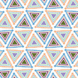 Pattern Triangle. Colorful childhood drawing triangle seamless vector background Royalty Free Stock Image