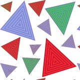 Pattern_Triangles_1 库存例证