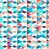Pattern with triangles . Abstract background in bright colors. Vector illustration. A good choice for the wrapping, home decor, website, brochures and Stock Image