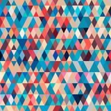Pattern with triangles . Abstract background in bright colors. Vector illustration. A good choice for the wrapping, home decor, website, brochures and Royalty Free Stock Photos