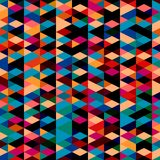 Pattern with triangles . Abstract background in bright colors. Vector illustration. A good choice for the wrapping, home decor, website, brochures and Stock Images