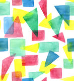 Pattern with triangles and squares Stock Photos