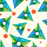Pattern with triangles and thin lines. Stock Images