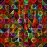 Pattern with triangles and torus Royalty Free Stock Photos