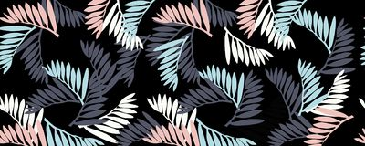 a pattern of tropical leaves royalty free illustration