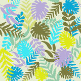 Pattern Tropical leaves - Illustration Stock Photos