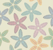 Pattern with tropical leaves Royalty Free Stock Images