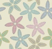 Pattern with tropical leaves Stock Photo