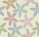 Pattern with tropical leaves Royalty Free Stock Photography
