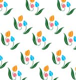 Pattern of tulips Royalty Free Stock Image