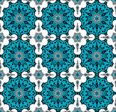 Pattern in turkish style. Drawing of a pattern similar to the turkish tile Stock Photography