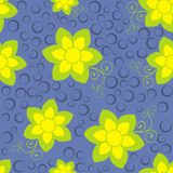 Pattern on turn blue background. Green pattern on turn blue background Royalty Free Stock Photography