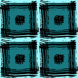 The pattern of turquoise squares Royalty Free Stock Photos