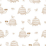 Pattern with turtles. Royalty Free Stock Photo