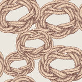 Pattern of twisted rope Stock Photography
