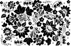 Pattern with two large flowers Royalty Free Stock Photo