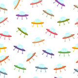 Pattern with UFO Royalty Free Stock Photo