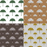 Pattern with umbrellas Royalty Free Stock Photos