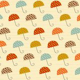 Pattern with umbrellas Royalty Free Stock Photography