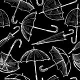 Pattern of the umbrellas sketches Stock Photography