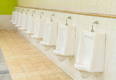 Pattern of urinals for men Royalty Free Stock Image