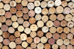 Pattern of used wine bottles corks background closeup Stock Photo