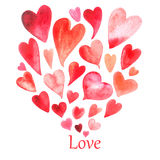 The pattern of valentine hearts Stock Images