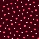 Pattern with Valentine hearts. Vector illustration Stock Photography