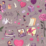 pattern Valentine`s Day Stock Images