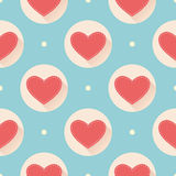 Pattern for Valentines Day. Vector illustration of flat design Royalty Free Illustration