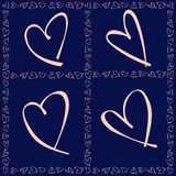 Pattern for Valentines Day Card Royalty Free Stock Photo