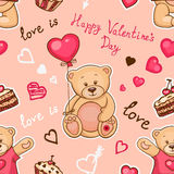 Pattern valentines day Royalty Free Stock Photography
