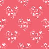 Pattern Valentines Day Stock Photography