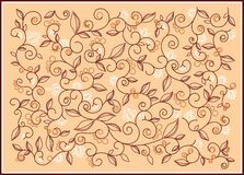 Pattern vanilla. Ornamental pattern for backgrounds and illustrations Stock Photos