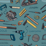 Pattern from various Carpentry, woodworker Royalty Free Stock Images