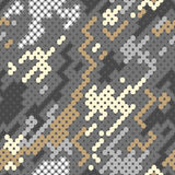 Pattern. Vector background of grey digital camoflage pattern Stock Photo
